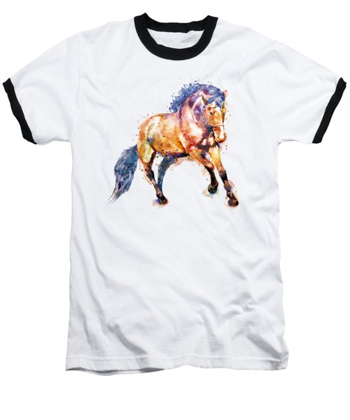 Running Horse Baseball T-Shirt by Marian Voicu