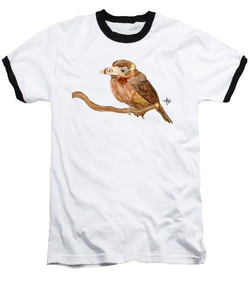 Spot-billed Toucanet Baseball T-Shirt by Angeles M Pomata