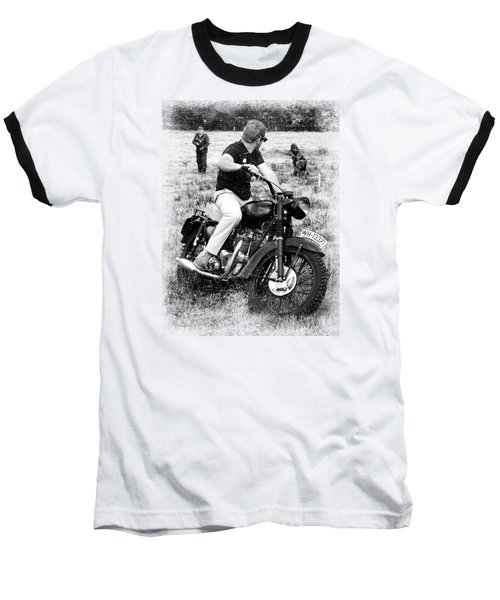 The Great Escape Baseball T-Shirt by Mark Rogan