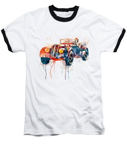 Vintage Bmw Watercolor Baseball T-Shirt by Marian Voicu