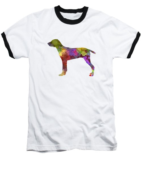 Wirehaired Slovakian Pointer In Watercolor Baseball T-Shirt by Pablo Romero