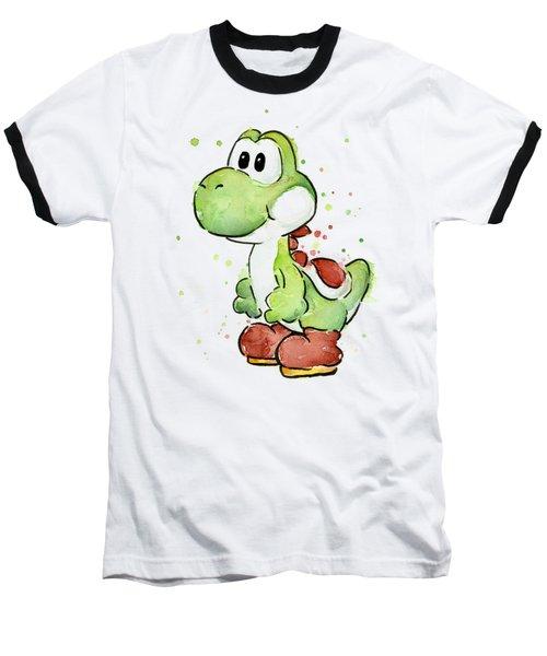 Yoshi Watercolor Baseball T-Shirt by Olga Shvartsur