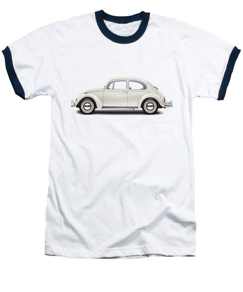 1966 Volkswagen 1300 Sedan - Pearl White Baseball T-Shirt by Ed Jackson
