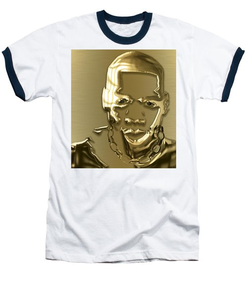 Jay Z Collection Baseball T-Shirt by Marvin Blaine
