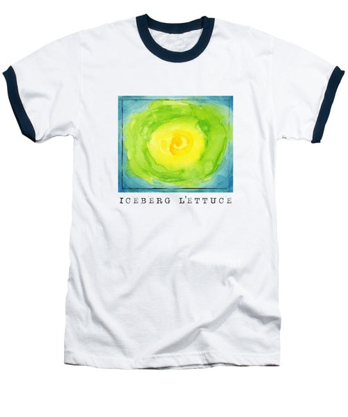 Abstract Iceberg Lettuce Baseball T-Shirt by Kathleen Wong