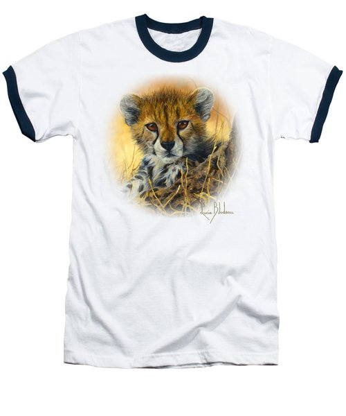 Baby Cheetah  Baseball T-Shirt by Lucie Bilodeau