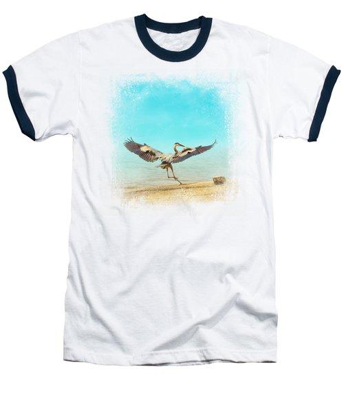 Beach Dancing Baseball T-Shirt by Jai Johnson
