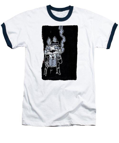 Blake Burns Detective Bunny Baseball T-Shirt by Bizarre Bunny