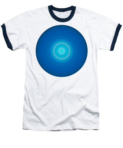 Blue Circles Baseball T-Shirt by Frank Tschakert