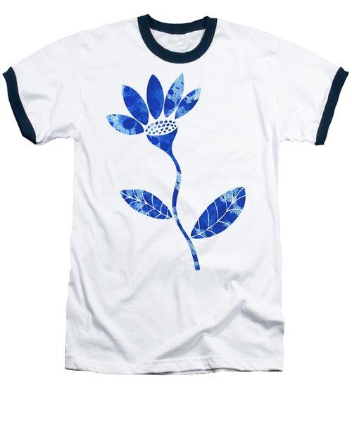 Blue Flower Baseball T-Shirt by Frank Tschakert