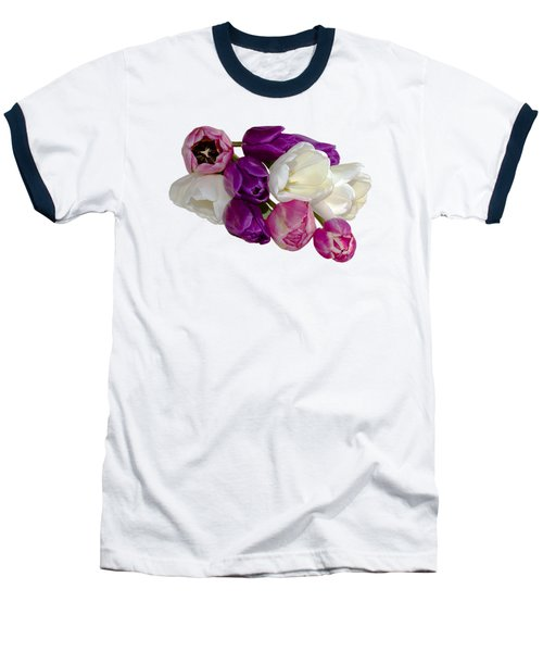 Cascading Tulips Baseball T-Shirt by Phyllis Denton