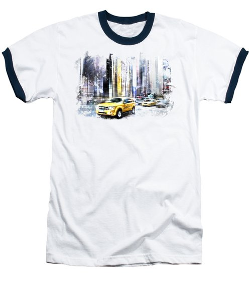 City-art Times Square II Baseball T-Shirt by Melanie Viola