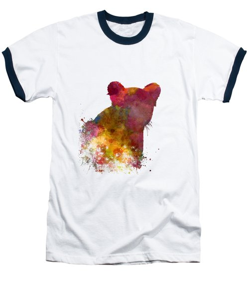 Female Lion 02 In Watercolor Baseball T-Shirt by Pablo Romero