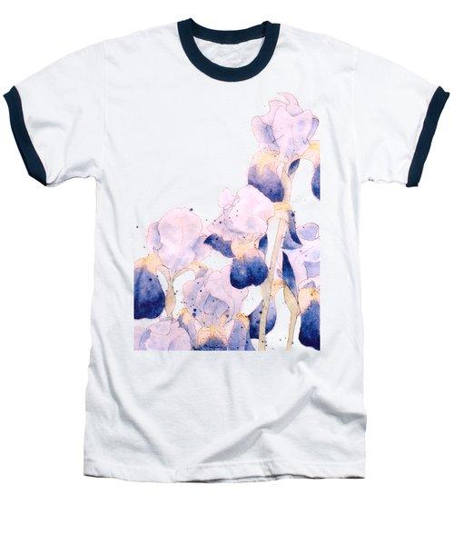 Graceful Iris Baseball T-Shirt by Gail Maguire