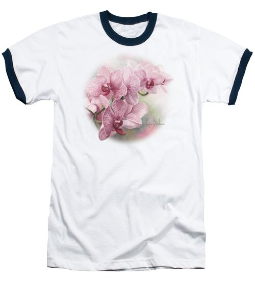 Graceful Orchids Baseball T-Shirt by Lucie Bilodeau