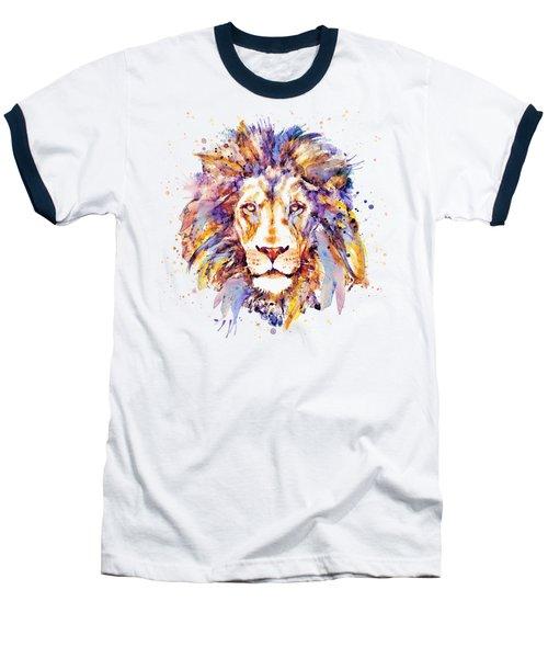 Lion Head Baseball T-Shirt by Marian Voicu