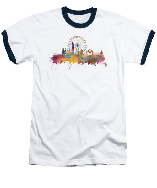 London Skyline Baseball T-Shirt by Justyna JBJart