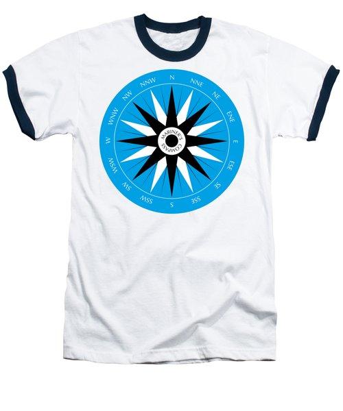 Mariner's Compass Baseball T-Shirt by Frank Tschakert