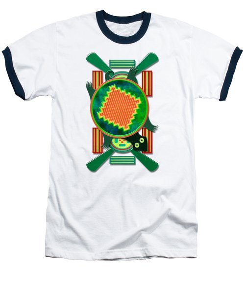 Native American 3d Turtle Motif Baseball T-Shirt by Sharon and Renee Lozen