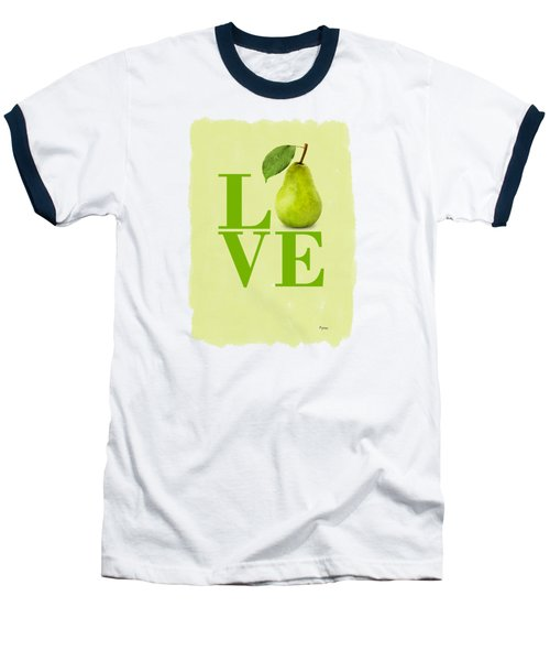 Pear Baseball T-Shirt by Mark Rogan