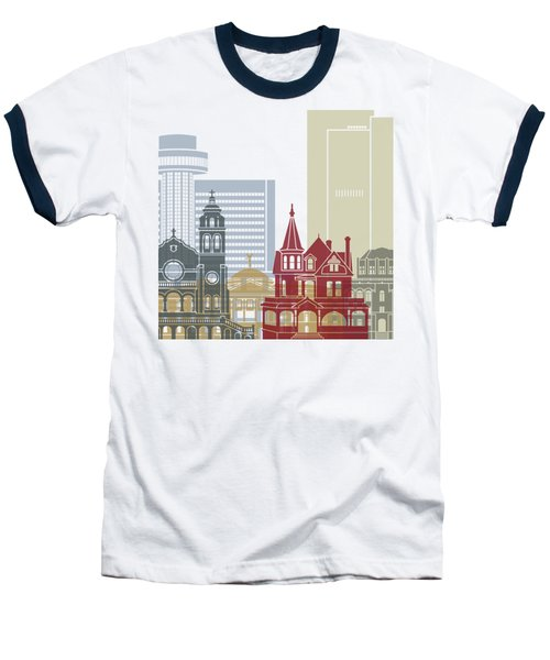 Phoenix Skyline Poster Baseball T-Shirt by Pablo Romero