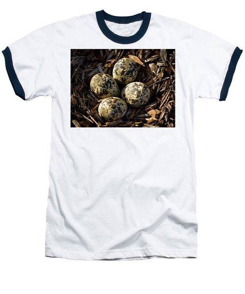Quartet Of Killdeer Eggs By Jean Noren Baseball T-Shirt by Jean Noren