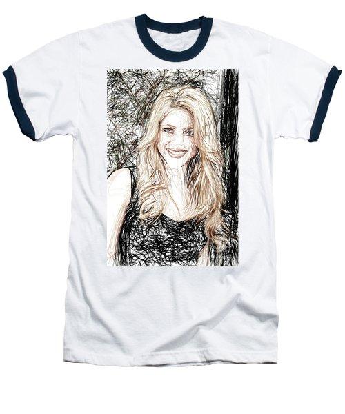 Shakira Baseball T-Shirt by Raina Shah