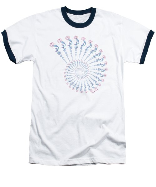 Tribal Mermaid Spiral Shell Baseball T-Shirt by Heather Schaefer