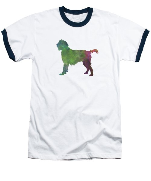 Wirehaired Pointing Griffon Korthals In Watercolor Baseball T-Shirt by Pablo Romero