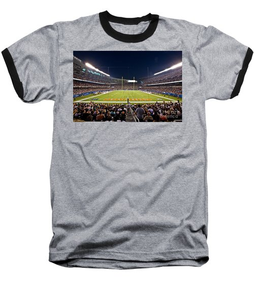 0588 Soldier Field Chicago Baseball T-Shirt by Steve Sturgill