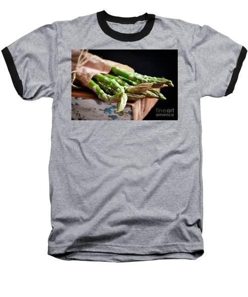 Asparagus Baseball T-Shirt by Kati Molin