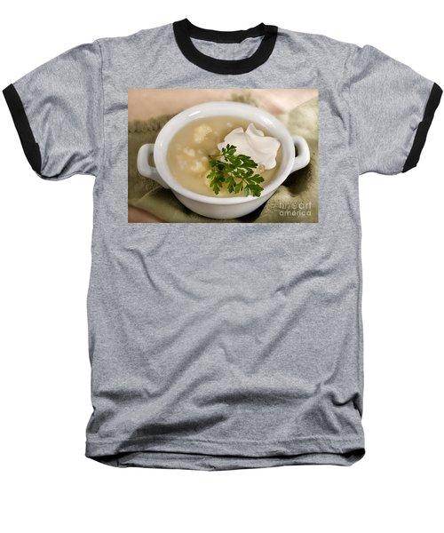 Cauliflower Soup Baseball T-Shirt by Iris Richardson