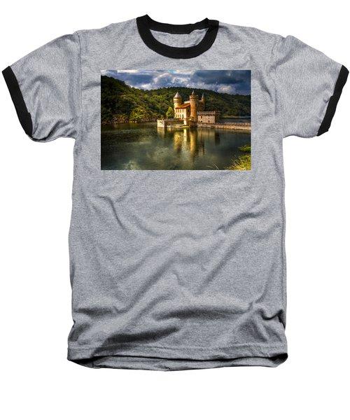 Chateau De La Roche Baseball T-Shirt by Debra and Dave Vanderlaan