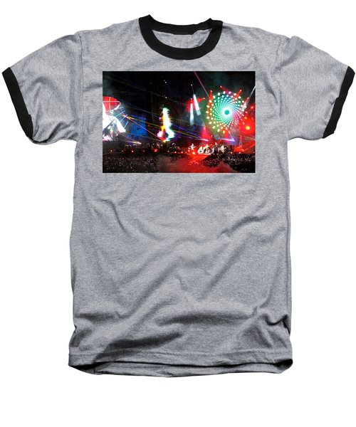 Coldplay - Sydney 2012 Baseball T-Shirt by Chris Cousins
