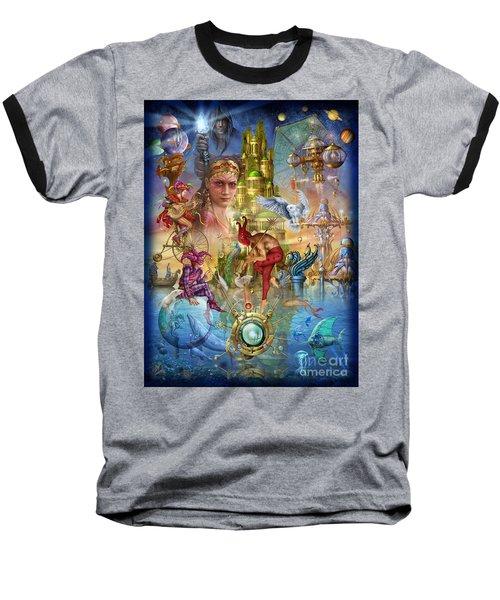 Fantasy Island Baseball T-Shirt by Ciro Marchetti