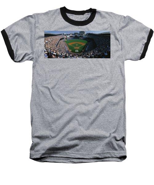 High Angle View Of A Baseball Stadium Baseball T-Shirt by Panoramic Images