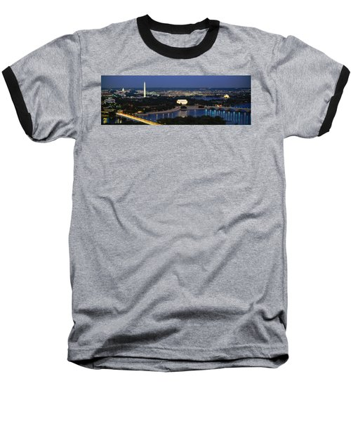 High Angle View Of A City, Washington Baseball T-Shirt by Panoramic Images