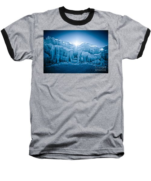 Ice Castle Baseball T-Shirt by Edward Fielding