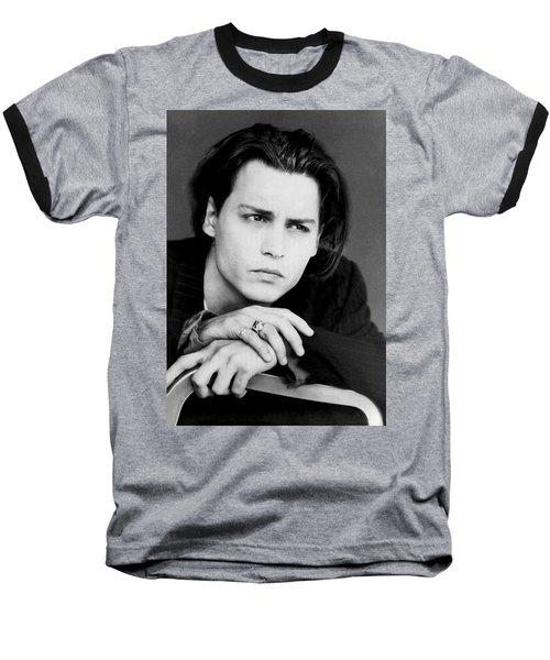 Johnny Depp Baseball T-Shirt by Karon Melillo DeVega