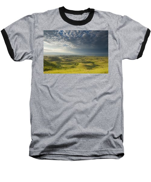 Killdeer Badlands In The East Block Of Baseball T-Shirt by Dave Reede