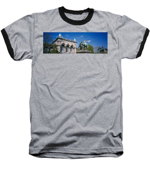 Low Angle View Of A Statue In Front Baseball T-Shirt by Panoramic Images