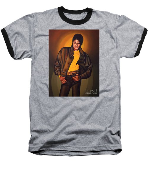 Michael Jackson Baseball T-Shirt by Paul Meijering