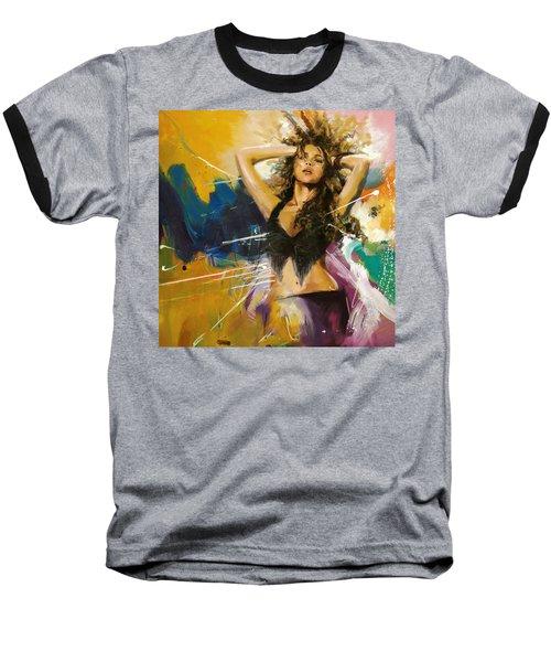 Shakira Baseball T-Shirt by Corporate Art Task Force