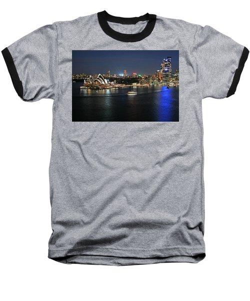 Sydney Harbor At Circular Quay Baseball T-Shirt by Ellen Henneke