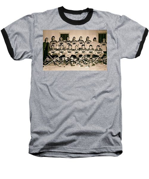University Of Michigan Hockey Team 1947 Baseball T-Shirt by Mountain Dreams
