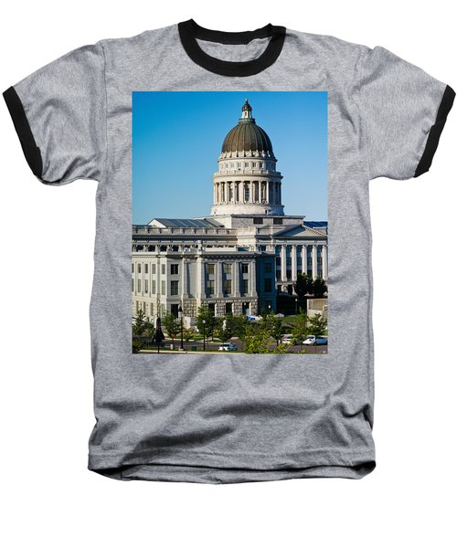 Utah State Capitol Building, Salt Lake Baseball T-Shirt by Panoramic Images