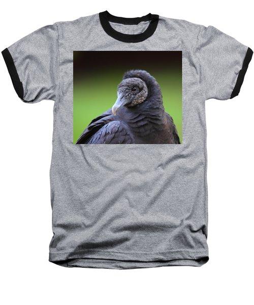 Black Vulture Portrait Baseball T-Shirt by Bruce J Robinson