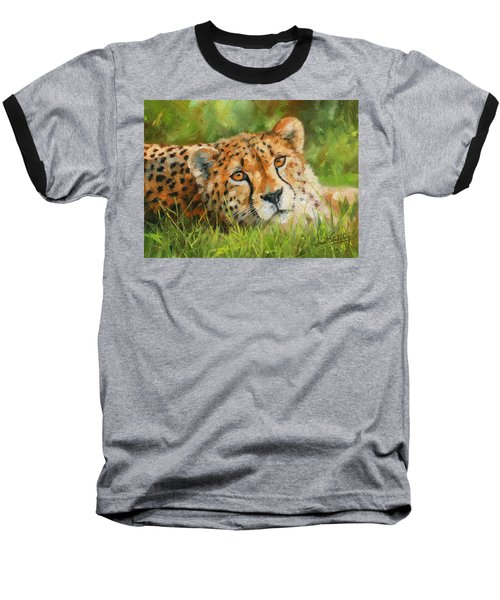 Cheetah Baseball T-Shirt by David Stribbling