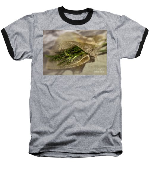Green Asparagus On Burlab Baseball T-Shirt by Iris Richardson