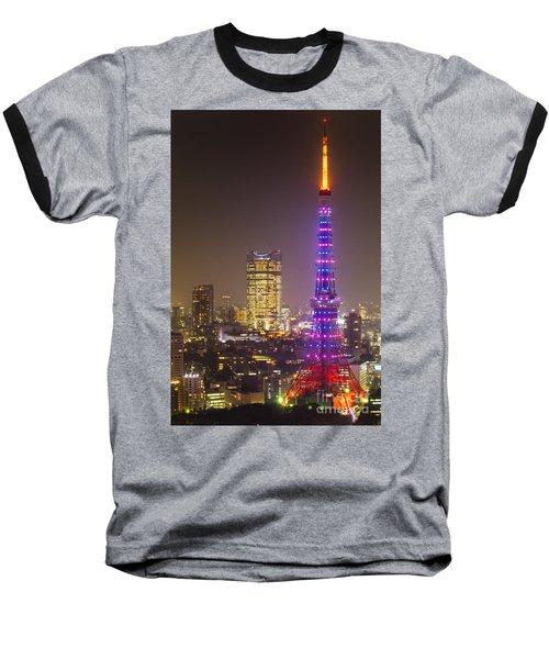 Tokyo Tower - Tokyo - Japan Baseball T-Shirt by Luciano Mortula